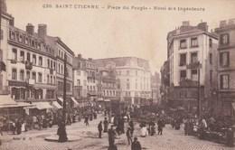 CPA 42 SAINT-ETIENNE PLACE DU PEUPLE HOTEL DES INGENIEURS ANIMEE - Saint Etienne