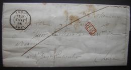 1843 Lyon Port Payé Avec Cachet D'essai ! A Voir ! (pour Saint Just) - Marcophilie (Lettres)