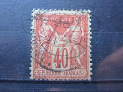 VEND BEAU TIMBRE DE FRANCE N° 94 , VERMILLON !!!! - 1876-1898 Sage (Type II)