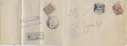 STORIA POSTALE REGNO - FASCETTA STAMPA RACCOMANDATA DA COSENZA 30.01.1912 TRICOLORE - 1900-44 Vittorio Emanuele III