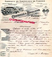 69 - COURS- BELLE FACTURE CRUSILLE & BOSLAND- FABRIQUE GARNITURES DE CARDES-POINTES EFFILOCHEUSES AIGUILLE PEIGNE - 1942 - France