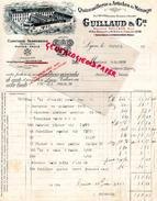 69 - LYON - BELLE FACTURE GUILLAUD & CIE- GUERRY- QUINCAILLERIE -CLOUTERIE SERRURERIE-FERRONNERIE-59 RUE BECHEVELIN-1923 - France