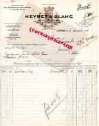 69 - LYON - BELLE FACTURE NEYRET & BLANC-MANUFACTURE VETEMENTS- 135 RUE VENDOME- 1932- A M. LACOMBE A GANNAT - France