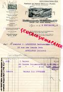 69 - LYON - BELLE FACTURE ETS. PERRON- FABRIQUE VERNIS GRAS ET ALCOOL- TROYES-REIMS-M. LOURTIOUX  GARAGE MONTLUCON-1926 - France