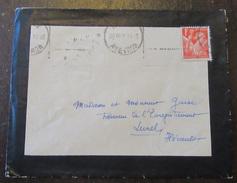 Enveloppe Avec Timbre Type Iris N°433 + Cachet 1941 - 1921-1960: Période Moderne