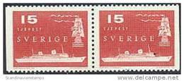 ZWEDEN 1958 15õre Zeepost Paar PF-MNH