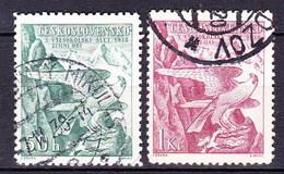 Tchécoslovaquie 1938 Mi 387-8 (Yv 333-4), Obliteré