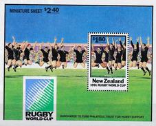 Nouvelle Zélande 1991 - Coupe Du Monde De Rugby - All Blacks Haka ** - Rugby