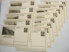 HINDENBURG  , Bildganzsache, 13  Bessere Karten  , Alle Unverschickt - Ganzsachen