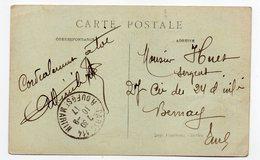 Beau Cachet Manuel  PARIS  114  (10ème Arr) Sur Carte Postale Tour Eiffel - Marcophilie (Lettres)