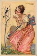 CPA MAUZAN Art Déco Femme Girl Woman Non Circulé Illustrateur Italien Italie 114-4 - Mauzan, L.A.