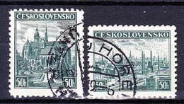 Tchécoslovaquie 1938 Mi 400-1 (Yv 343-4), Obliteré