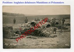 Batterie Anglaise D'Artillerie Delaissee-Prisonniers-Munitions-2x CARTES PHOTOS Allemandes-Guerre-14-18-1 WK-Militaria- - Oorlog 1914-18