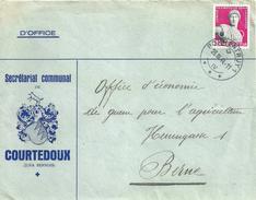 """Motiv Brief  """"Secrétariat Communal De Courtedoux"""" - Bern             1944 - Suisse"""