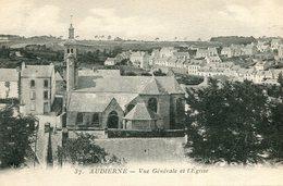 Audierne Vue Generale Et L'eglise - Audierne