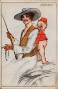 CPA MAUZAN Art Déco Femme Girl Woman Circulé Illustrateur Italien Italie 10-4 - Mauzan, L.A.