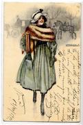 CPA MAUZAN Art Déco Femme Girl Woman Circulé Illustrateur Italien Italie 901-4 - Mauzan, L.A.