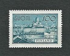 FINLAND 1957 - Porto Di Helsinki - 100 M. Verde-azzurro - MNH - Yt:FI 462 - Finlandia