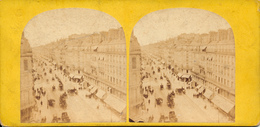 Paris , Street With Carriages - Stereoscoop