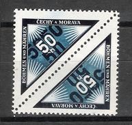 Bohême Et Moravie N° 38 Tête-bêche Neufs ** - Bohême & Moravie
