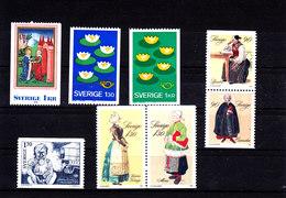 SWEDEN - SUEDE - SCHWEDEN - SUECIA - 1976/79 - **/MNH -  XMAS, NATURE PROTECTION, CHILDREN - Schweden