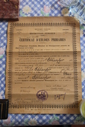 DIPLOME - Certificat D'Etudes - - Diplômes & Bulletins Scolaires