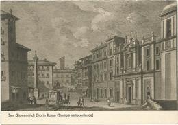 Y2888 Roma - Ospedale San Giovanni Di Dio Da Stampa Settecentesca - Serie Vecchi Ospedali D'Italia / Non Viaggiata - Santé & Hôpitaux