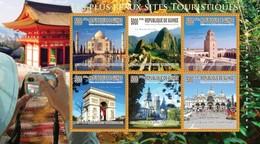 GUINEA 2010 SHEET BEAUTIFUL TOURIST CITIES SITES TOURISTIQUES MONUMENTS TAJ MAHAL MACHU PICCHU ARC DE TRIOMPHE Gu10211a - Guinee (1958-...)
