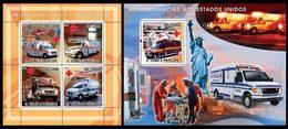 S. TOME & PRINCIPE 2008 - American Ambulances - YT 2530-3 + BF427