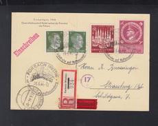 Dt. Reich AK Hitler Keitel 1944 Express Forbach Nach Strassburg - Briefe U. Dokumente