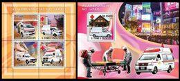 S. TOME & PRINCIPE 2008 - Japanese Ambulances - YT 2526-9 + BF426