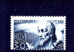 SCHWEIZ - SUISSE - SUIZA - 1929 - **/MNH - PRO JUVENTUTE - NIKOLAUS VON DER FLÜE - Mi 238