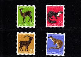 SCHWEIZ - SUISSE - SUIZA - 1967 - */MLH  - PRO JUVENTUTE FAUNA - Mi 866/69    Yv 799/802