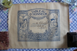 Diplôme : Tableau D'Honneur Des Arts Et Sciences. - Diplomi E Pagelle