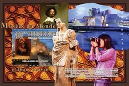 GUINEA 2010 SHEET MUSEUMS THE WORLD ARTWORKS MUSEES DU MONDE OEUVRES GUGGENHEIM VELAZQUEZ ART PAINTINGS Gu10212b - Guinee (1958-...)