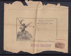 Fragment Le Monde Moderne 1896 - Poststempel (Briefe)