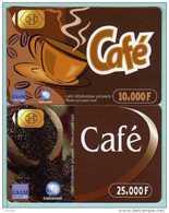 Prépayé Côte D'Ivoire - 2 Cartes Café - Puce Figurée