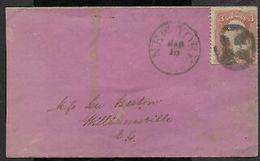 USA, Cover , 3 Cents NEW YORK MAR 16 C.d.s. > Williamsville - 1847-99 Unionsausgaben