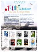 Collector 2013  -  Charles Trenet Centenaire -  10 TP Adhésifs Lettre Verte  20 G. - France