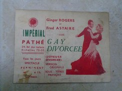 KA1009.69  Impérial Pathé - Cinema - Movie Advertising  FRED ASTAIRE ET GINGER ROGERS  Ca 1930 - Pubblicitari