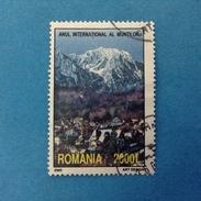 2002 ROMANIA FRANCOBOLLO USATO STAMP USED - Anno Internazionale Della Montagna 2000 L
