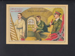 Carte Postale Hitler Ainsi Passe La Gloire - Personaggi Storici