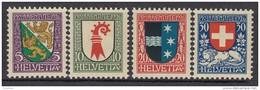 """SCHWEIZ 218-221, Postfrisch **, """"Pro Juventute"""" 1926, Wappen"""