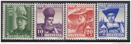 """SCHWEIZ 359-362, Postfrisch **, """"Pro Juventute"""" 1939, Hans Herzog, Frauentrachten"""
