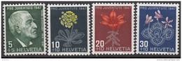 "SCHWEIZ 488-491, Postfrisch **, ""Pro Juventute"" 1947, Jacob Burckhardt, Alpenblumen"