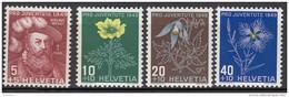 """SCHWEIZ 541-544, Postfrisch **, """"Pro Juventute"""" 1949, Nikolaus Wengi, Alpenblumen"""
