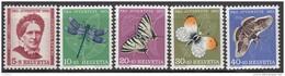 """SCHWEIZ 561-565, Postfrisch **, """"Pro Juventute"""" 1951, Johanna Spyri, Insekten"""