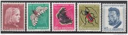 """SCHWEIZ 588-592, Postfrisch **, """"Pro Juventute"""" 1953, Mädchen, Insekten, Ferdinand Hodler"""