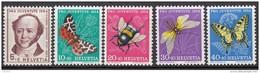 """SCHWEIZ 602-606, Postfrisch **, """"Pro Juventute"""" 1954, Jeremias Gotthelf, Insekten"""