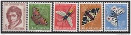 """SCHWEIZ 618-622, Postfrisch **, """"Pro Juventute"""" 1955,Charles Pictet De Rochemont, Insekten"""